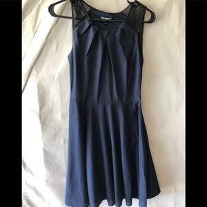 Express Dresses - Express navy blue mini dress
